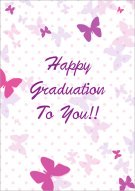 Happy Graduation butterflies card 004