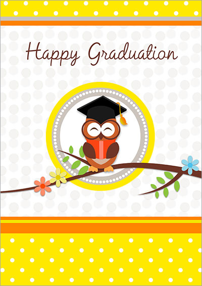 Bookworm Graduation printable card 006