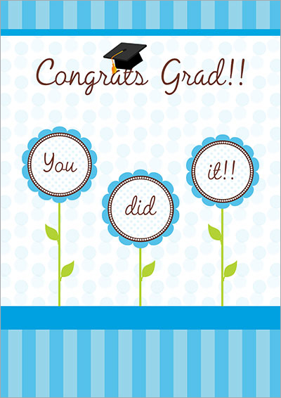 Congrats, You did it!! Card 008