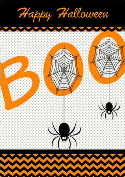 Spider Halloween Printable Card 006