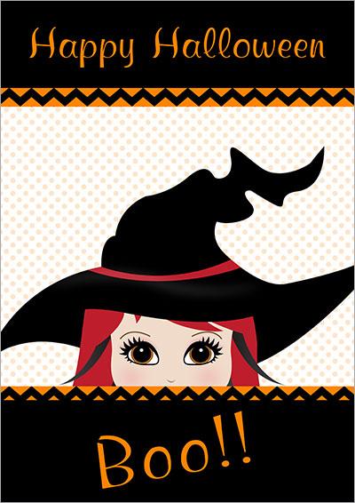Halloween Boo! Printable Card 007