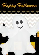 Smiling Ghosts Printable Card 008
