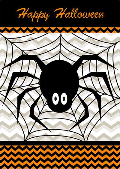 Happy Halloween Spider Card 009