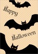 Halloween Bats Printable Card 010
