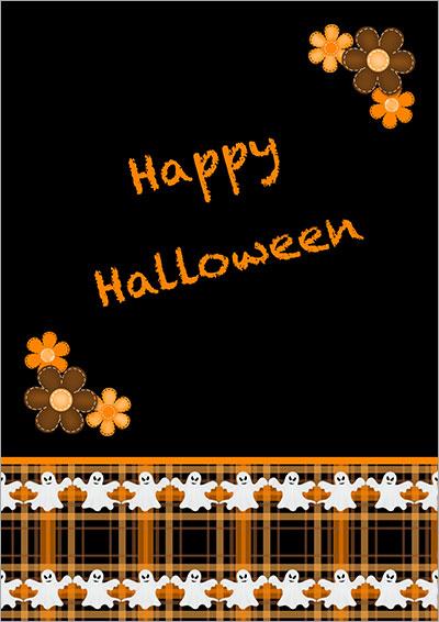 Halloween Dancing Ghosts Card 012