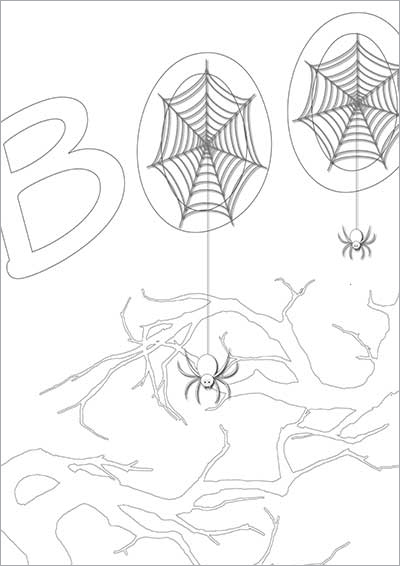 HAlloween Spiders Color Card 006