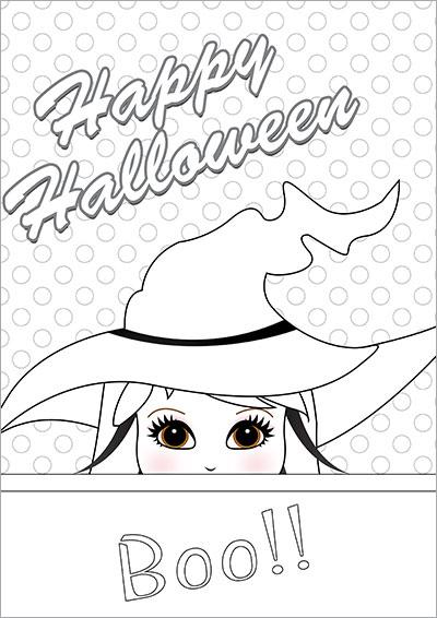 HAlloween Boo!! Colo Card 007