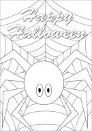 Halloween Spider Color Card 009