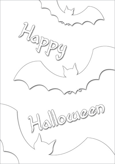 Halloween Bats Color Card 010
