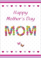 Floral Mother's Day MOM Card 001