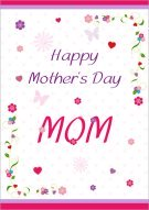 Festive Mother's Day MOM Card 003