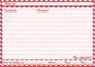 Red chevron recipe card