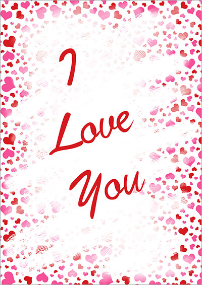 I Love You Heart Printable Card 015