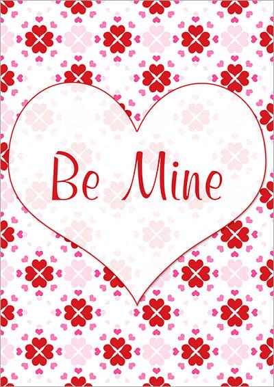 Be Mine Valentine's Day Card 016