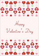 Colorful Valentine's Day Hearts 022