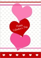 Valentne Chain of Hearts Card 025