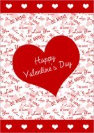 Be My Valentine Printable Card 027