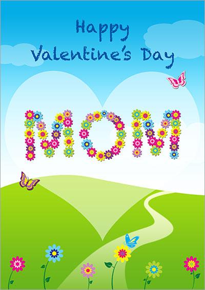 Happy Valentine's Day Mom Card 032