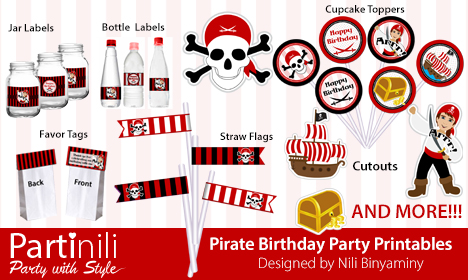 Partinili - Pirate Birthday Kit
