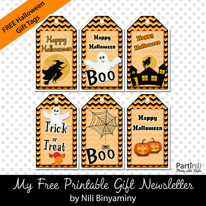 Transformative image with free printable halloween tags