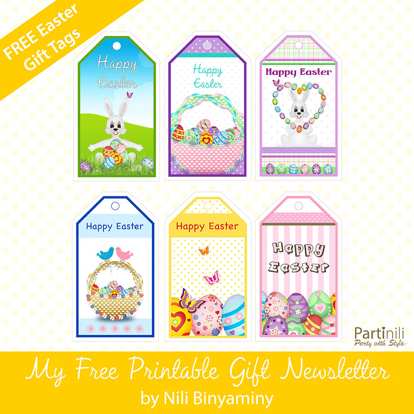 Exhilarating image within free printable easter gift tags