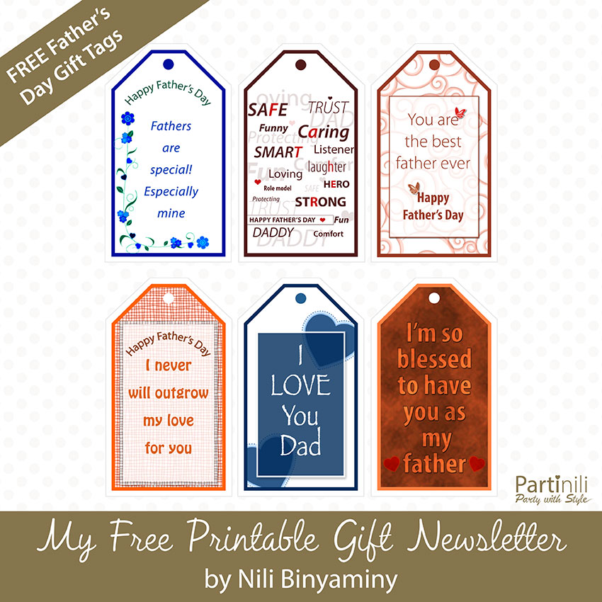 Free Printable Father's Day Gift Tags: