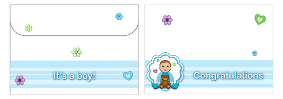 Printable Baby Envelopes 01