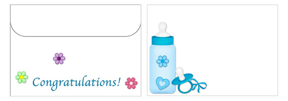 Printable Baby Envelopes 04