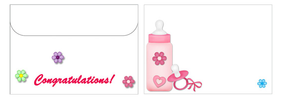 Printable Baby Envelopes 08