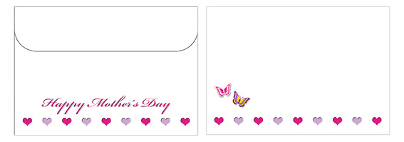 Printable Mother's Day Envelope 01