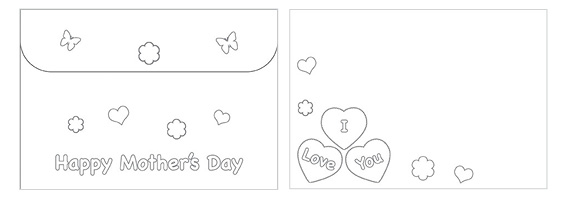 Printable Mother's Day Color Envelope 10