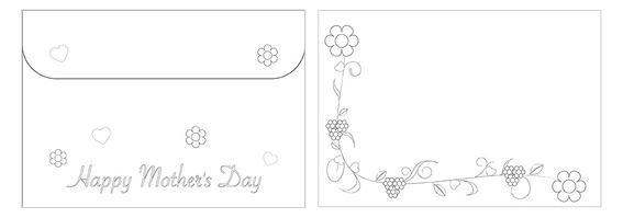 Printable Mother's Day Color Envelope 01