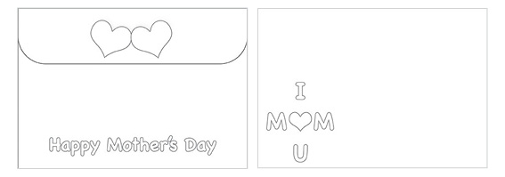 Printable Mother's Day Color Envelope 02