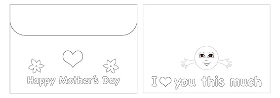 Printable Mother's Day Color Envelope 03