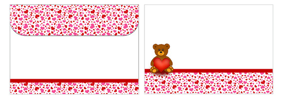 Printable Valentine's Day Envelope 01