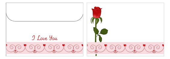 Printable Valentine's Day Envelope 15
