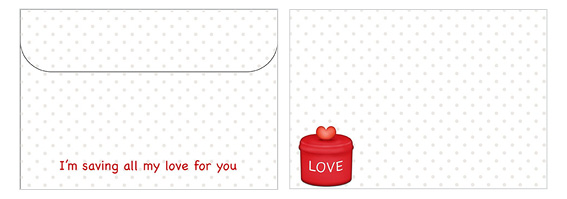Printable Valentine's Day Envelope 16