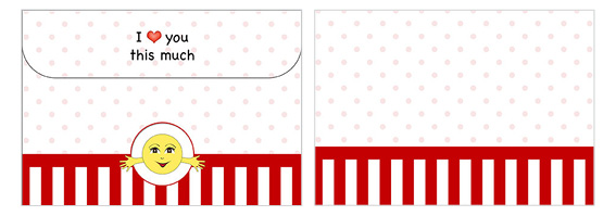 Printable Valentine's Day Envelope 06