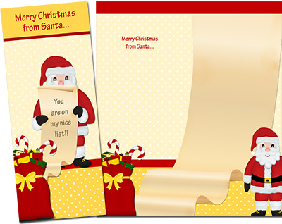 Christmas Santa Greeting Card 001