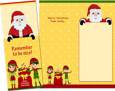 Christmas Santa Greeting Card 002