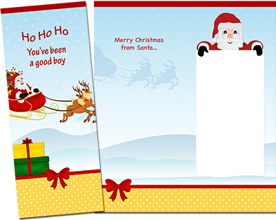 Christmas Santa Greeting Card 003