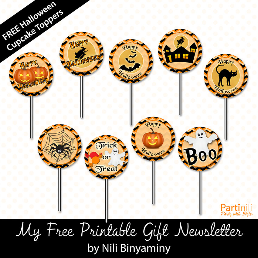 Halloween printables free printable halloween cupcake toppers negle Image collections