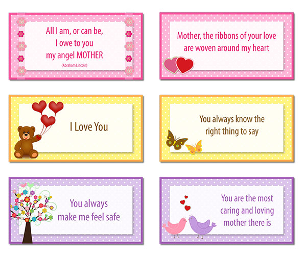 Free Printable Mother's Day Note Cards
