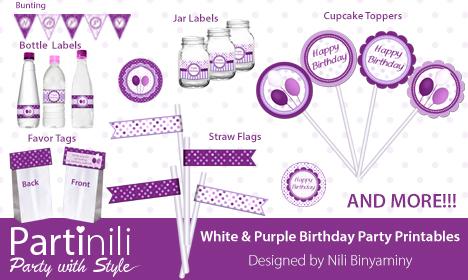 Partinili - Purple Birthday Kit
