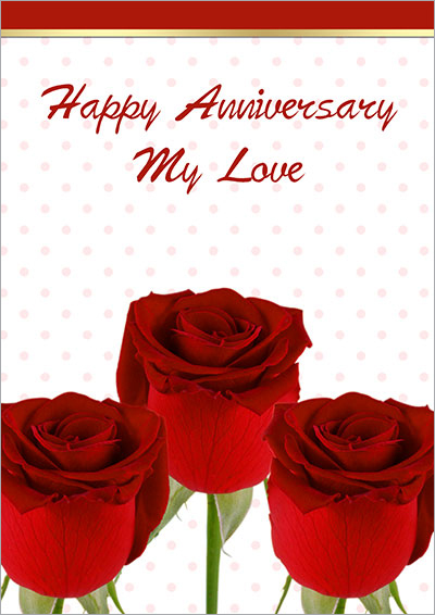 Anniversary Bouquet Of Love 002  Printable Wedding Anniversary Cards