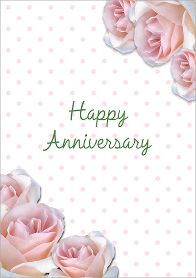 Pink Roses Anniversary Card  Printable Anniversary Cards For Husband