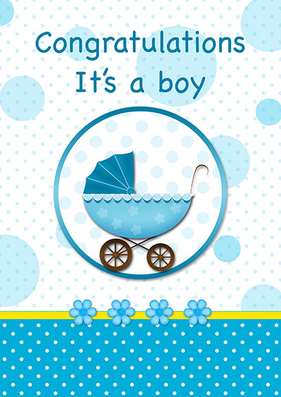 Baby Boy Congrats Blue Card 002