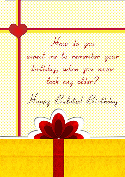 Printable Belated Birthday Cards – Free Belated Birthday Cards