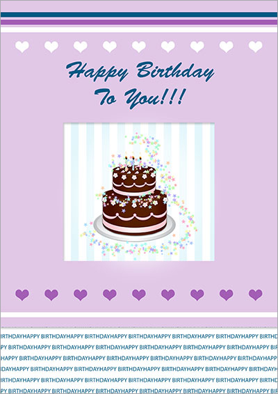 Chocolate Birthday Cake Card 013