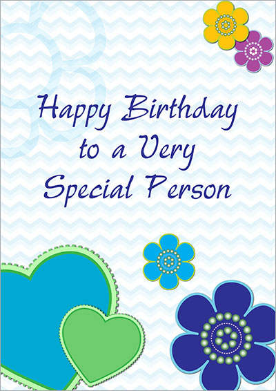Free Printable Birthday Cards – Birthday Card for Someone Special